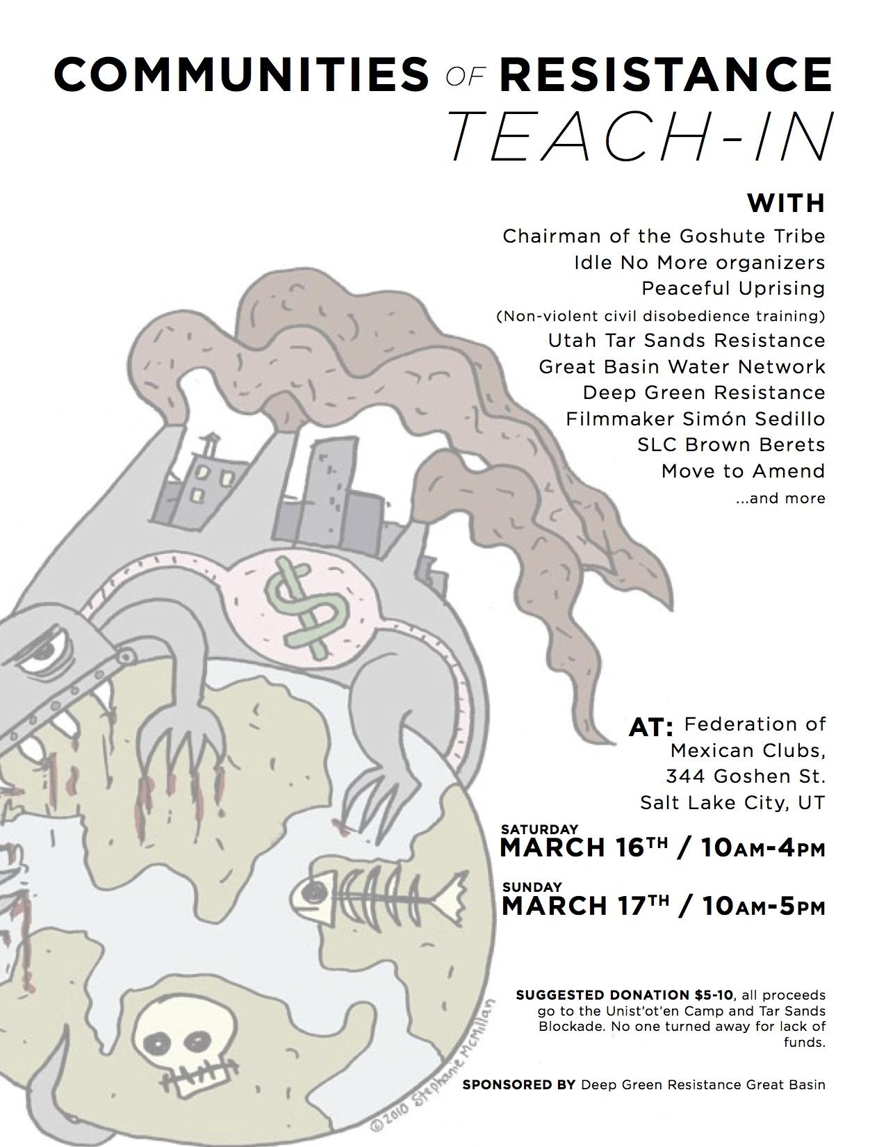 Communities of Resistance Teach-in